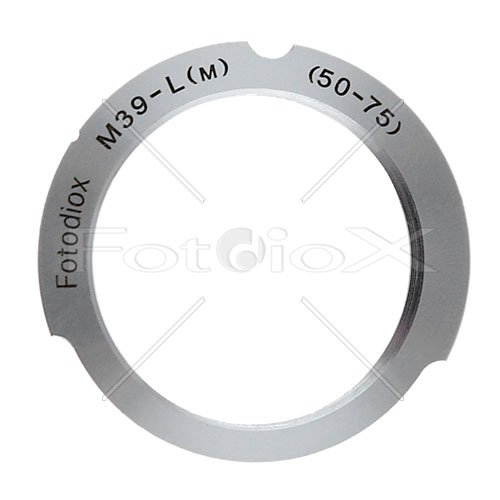 Fotodiox Lens Mount Adapter, M39 (39MM x1, Thread Leica Screw Mount) Lens to Leica M Adapter with 50mm/75mm Frame Line
