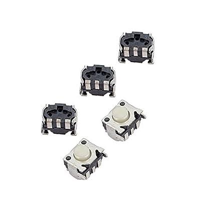eDealMax Grupo 5 x PCB momentáneo táctil El tacto de botón de encendido y apagado 3
