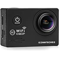 ICONNTECHS IT Full HD 1080P Sport Action Camera WIFI FHD 60 fps HDMI 14MP 170 Degree Wide Viewing Angle 2.0 Inch LCD Waterproof DV Camcorder for Extreme Outdoor Sports (Black)