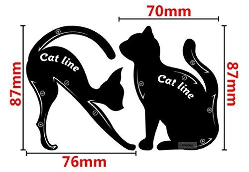 FUNNY365 Cat Eyeliner Stencil, 6-Pack Smoky Eyeshadow Applicator Template Plate
