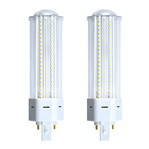 (Bonlux 2-Pack Non-dimmable 22W G24 2-pin Base LED Bulb, 360 Degree Angle G24 PL-C Lamp for 42W CFL/Compact Fluorescent Equivalent Lamp Replacement (Must REWIRE to Remove The Ballast, Daylight))