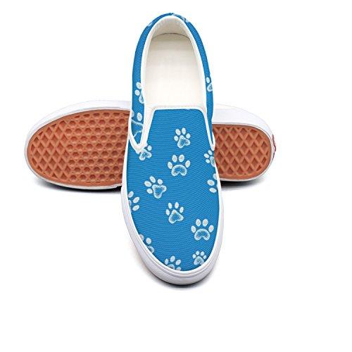 894c02d33cd6e Lalige Dog Cat Paw Footprint Women Printed Graphics Canvas Slip-on Slip-ons