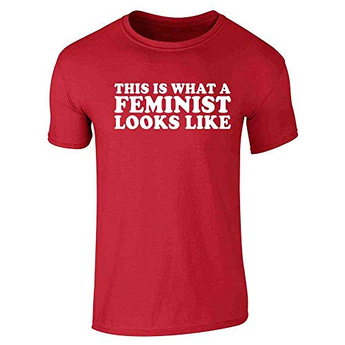 This is What A Feminist Looks Like Political Red L Short Sleeve - What A Like This T-shirt Looks Is Feminist