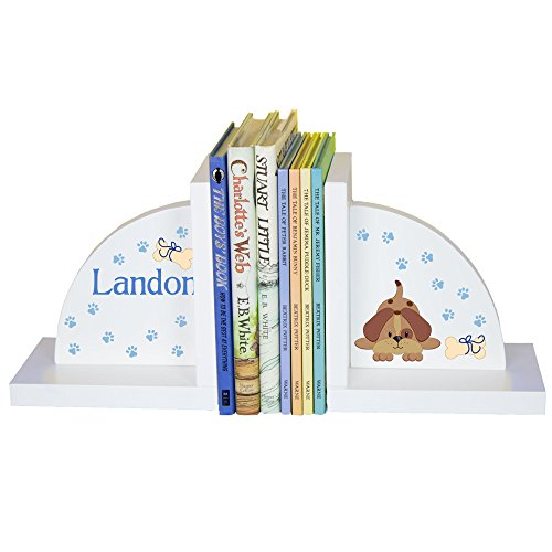 Puppy Bookends - Child's Personalized Puppy Dog Bookends