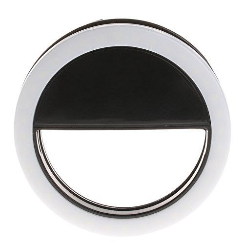 Kocome Selfie Portable LED Ring Fill Light Camera Photography Android Phone for iPhone (Black)