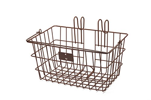 Apollo Caddy - Retrospec Detachable Steel Apollo-Lite Lift-Off Front Bike Basket with Handles, Brown