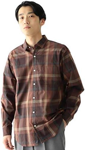 /カジュアルシャツ ビッグ チェック ミニレギュラーカラー シャツ メンズ