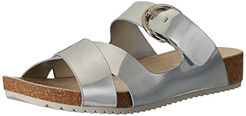 Women's Querly Synthetic, Silver, 8 M US (Ak Anne Klein Mules)