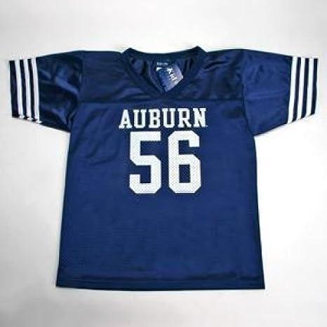 Amazon Com Auburn Tigers 56 Youth Football Jersey Navy