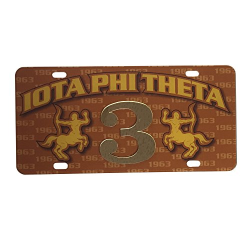 Iota Phi Theta Fraternity Line #3 Numbered Car Tag Line Number Acrylic Printed Decorative Tag For Front Back of - Memphis Infiniti Parts Of