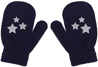 Dots Star Heart Pattern Mittens Soft Knitting Warm Gloves For Kids Children Gift