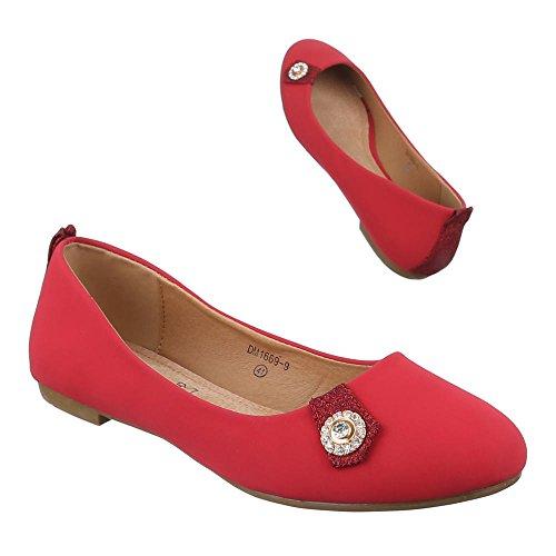 Ital-Design - Cerrado Mujer Rojo - rojo