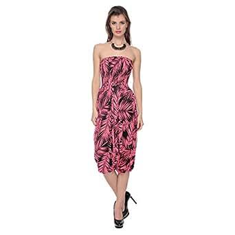 Cocum Celsia Printed Jumpsuit for Women - 12 UK, Pink/Black