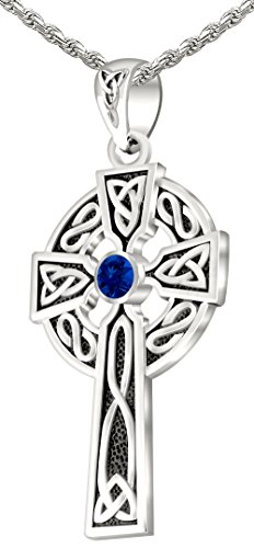 Men's 0.925 Sterling Silver Simulated Sapphire 1.5