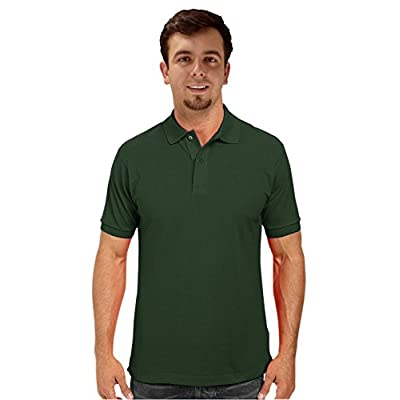 New Peach Couture Mens Short Sleeve Classic Pique Polo Shirt free shipping