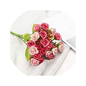 Dream-catching Silk Small Artificial Rose Daisy Camellia Flowers Party Home Decor Wedding Decoration Accessories Mini Fake Flower Gift 52781 90