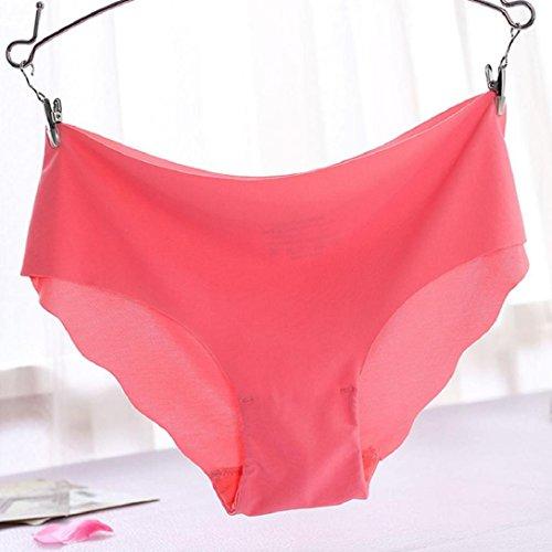 Kolylong Underwear Damen String Spandex Cotton thong Wassermelonenrot dle3tczPf