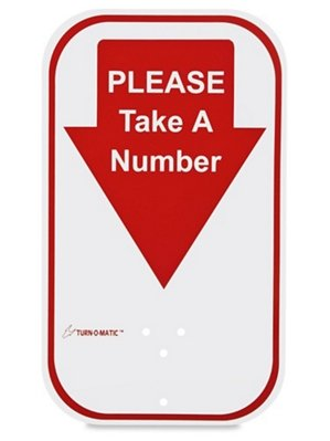 Please Take A Number Sign