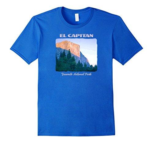 Mens El Capitan, Yosemite National Park scenic colorful t-shirt Large Royal (Climbing El Capitan Yosemite)