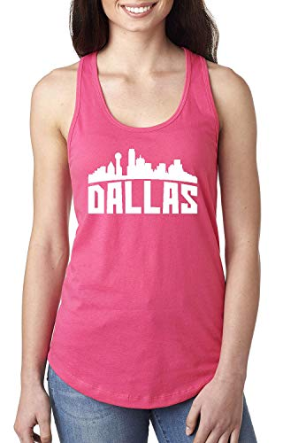 Dallas Most Visited US Cities Women's Racerback Tank Top (LHTP) Hot Pink -
