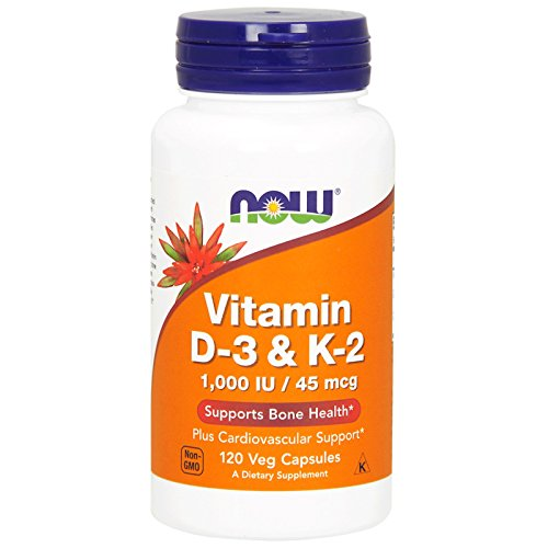 NOW Vitamin D-3 & K-2,120 Veg Capsules