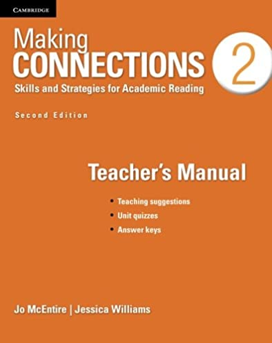 making connections level 2 teacher s manual skills and strategies rh amazon com Teachers Manuals Stretch Teachers Instructional Manual
