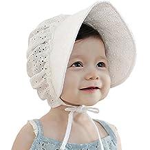 LianLe® Baby Girls 6-18 Month 100% Cotton Sun Hat Princess Ribbon Bonnet Beanie Cap