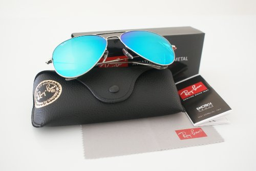 New Authentic Ray-Ban Aviator 3025 112/19 62mm Matte Gold/Green Mirror ()