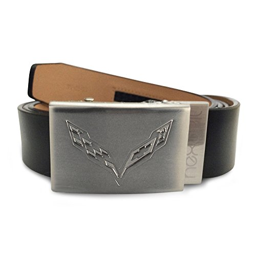 American West Shadow (Corvette Leather Belt with Brushed Nickel Buckle (C7 logo))