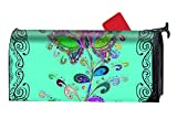 BABBY Mailbox Cover-Abstrace Colored Flora Magnetic Mail Box Cover-Cylinder Packaged
