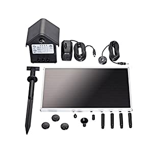 pond boss PF66SOL-B Solar Fountain Pump Kit with Rechargeable Battery, 66 GPH