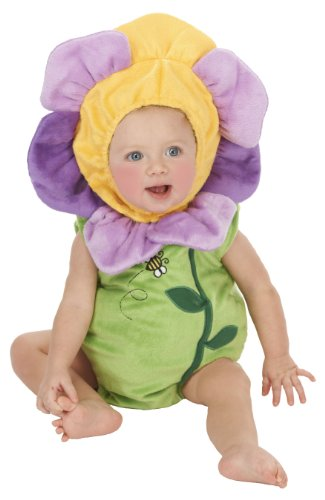 Infant Flower Costume 0-6 Months (Just Pretend Kids Infant Romper, 0-6 Months, Flower Pansy)