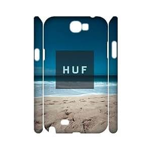 Hjqi - Custom HUF 3D Phone Case, HUF DIY Case for Samsung Galaxy Note 2 N7100