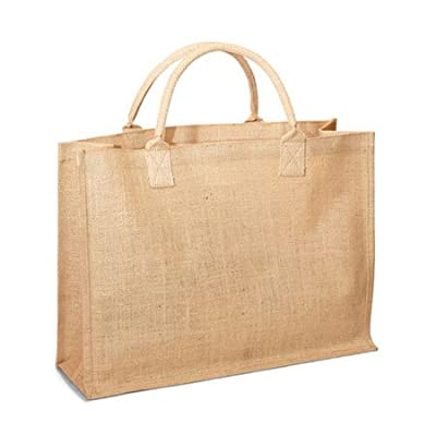 Eco-Friendly Reusable Jute burlap Large Shopping Grocery Bags - Holiday Gift bags