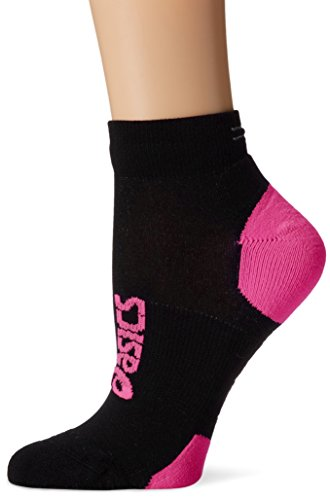 ASICS Lite-Show Nimbus Low Socks, Black/Neon Pink, Small