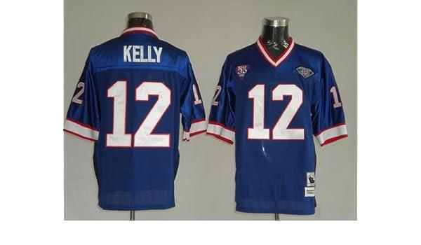 Amazon.com   Jim Kelly  12 Buffalo Bills Replica Retro NFL Jersey Blue Size  52 (XL)   Football Equipment   Sports   Outdoors bf6a9462e