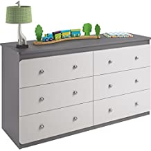 Ameriwood Home Willow Lake 6 Drawer Dresser, Gray