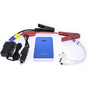 UNYSON Gen3 400A 8000mAh Ultra-Portable Jump Starter/Power Bank with Metal Case, Smallest in the Kind, 5 Colors with Wrapping Bag (Blue)