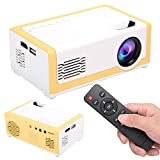 Diyeeni Mini Projector,1080P HD Video Projector with 1800ansi Lumens,Outdoor&Indoor LED Movie Portable Projector Home Theater Projector,idear for Party Traveling Camping