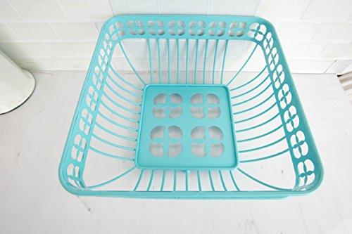 Home Basics Trinity Fruit Basket Square, Turquoise by Home Basics (Image #1)