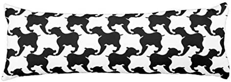 Dachshund Dog Body Pillowcase for Bed Silky Long Body Pillow Cover Decorative 20 x 54 Inch Machine Washable