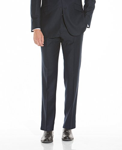 The Savile Row Company Savile Row Men's Navy Pinstripe Business Suit Trousers 34'' 32'' by The Savile Row Company (Image #1)