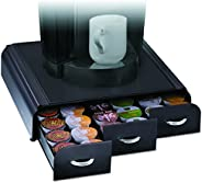 Mind Reader TRY3PC-BLK TRY3PC-BLK Anchor Coffee Pod Storage Drawer for 36 Keurig K-Cup, 42 CBTL/Verismo Coffee