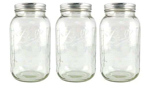 Ball 64 ounce Jar, Wide Mouth, Set of 3 (1 Gallon Cracker Jar)
