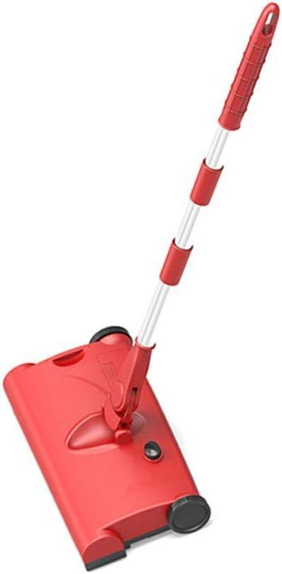 Ablerfly Balayeuse de Chargement USB, aspirateur Grande capacité 1200 mah réglable à 360 ° pour Le Balayage Red