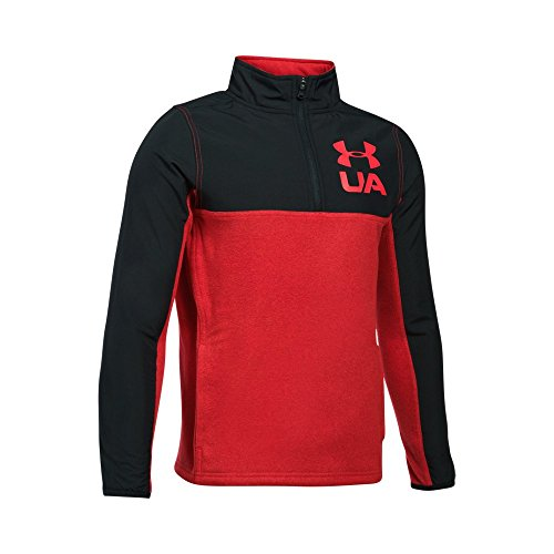 (Under Armour Boys' Phenom ¼ Zip,Red (600)/Red, Youth Large)