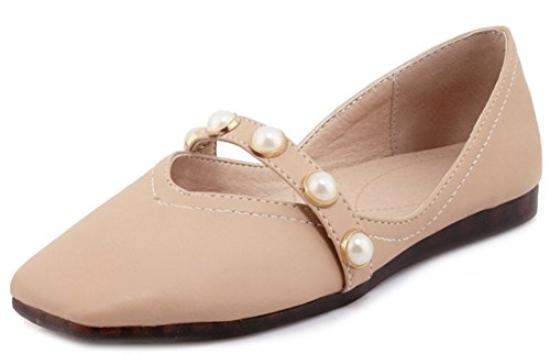 Loafer Women's Toe Flats Pink Comfy Aisun Top Low Square 6TUYpUqZw