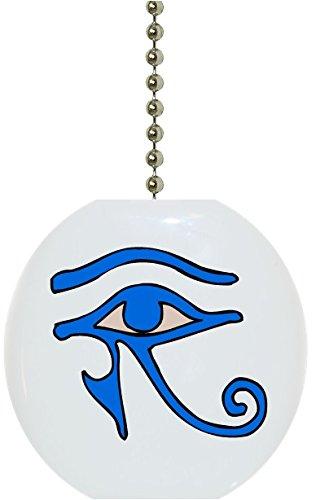Carolina Hardware and Decor 1171F Blue Eye of Horus Ceramic Fan Pull