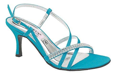 Azul De Destalonados Lexus Zapatos Mujer Satén Turquise wqzRXREn