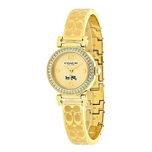 COACH Women's Madison Fashion Bangle Watch Gold/Gold
